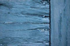 Blaues gemaltes Holz Stockbilder