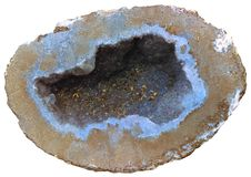 Blaues geode Lizenzfreies Stockbild