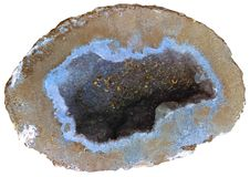 Blaues geode Lizenzfreies Stockfoto