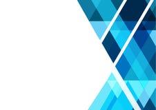 Blaues geometrisches abstraktes Vektorhintergrunddesign für Geschäft Stockbilder