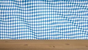 Blaues geometrisches Muster OKTOBERFEST Deutschland-` s Oktoberfest Welt-` s größtes Bier-Festival Oktoberfest und bayerische Fla lizenzfreies stockfoto