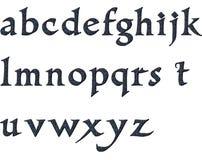 Blaues gepard Alphabet Stockbild
