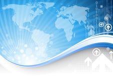 Blaues Geschäft lizenzfreie abbildung