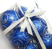 Blaues Geschenk 11 Stockfoto