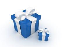 Blaues Geschenk Stockfotos