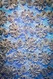 Blauer Textilhintergrund Stockfoto