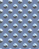 Blaues glänzendes Punkt diamondplate Stockfotografie