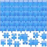 Blaues glasiges Puzzlespiel lizenzfreie abbildung