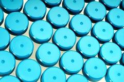 Blaues Glasreagenzglas Stockbild