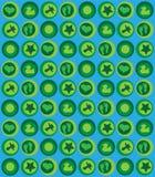 Blaues Grün des Schätzchenmusters Stockfotografie