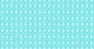 Blaues gr?nes Muster des T?rkises mit Rauten und wei?en Punktsternen Fester eleganter Heiratshintergrund stock abbildung