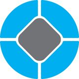 Blaues Grau regtangle Kreis Lizenzfreie Stockfotos