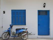 Blaues Griechenland stockfotografie