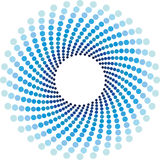 Blaues Halbtonbild kreist Hintergrund ein stock abbildung