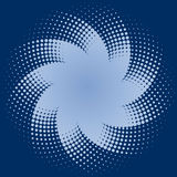 Blaues Halbtonbild punktiert Stern lizenzfreie abbildung