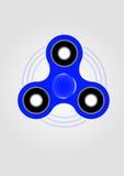 Blaues Handspinner-Unruhespielzeug Stockfoto