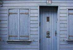 Blaues Haus stockfotografie