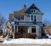 Blaues Haus Lizenzfreies Stockbild