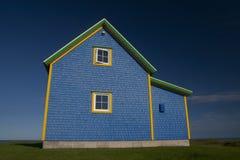 Blaues Haus auf Magdalen Inseln Stockbilder