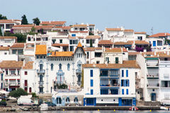 Blaues Haussymbol von Cadaques Lizenzfreie Stockfotos