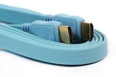 Blaues HDMI-Kabel Lizenzfreie Stockbilder