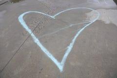 Blaues Herz Austism-Bewusstseinsherz Lizenzfreies Stockfoto