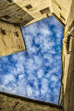 Blaues Herz in Festung Hohensalzburg Stockbild
