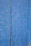 Blaues Holz Stockfoto