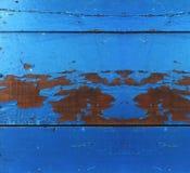 Blaues Holz Stockbild