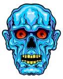 Blaues Horrorgesicht Stockfoto