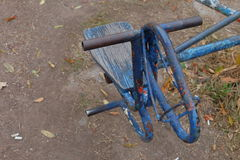 Blaues hourse Karussell Lizenzfreies Stockfoto