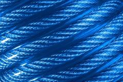 Blaues Kabel als Hintergrund Lizenzfreies Stockfoto
