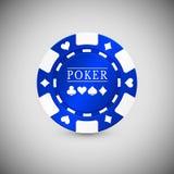 Blaues Kasino Chip Icon Kasino Chip Vector Illustration lizenzfreie abbildung