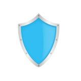 Blaues klassisches Schild Stockfotos