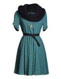 Blaues Kleid auf Weiß Stockfotografie