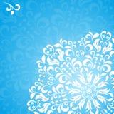 Blaues Kreismuster der Blumenblätter Stockfoto