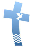 Blaues Kreuz Lizenzfreie Stockfotos