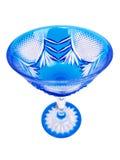 Blaues Kristallglas lizenzfreie stockfotos