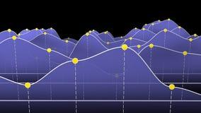 Blaues Kurvendiagramm oder Linie Diagramm Lizenzfreies Stockfoto