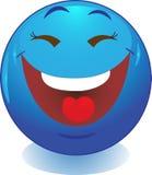 Blaues Lächeln, Lächeln, Ikone. Lizenzfreie Stockfotos