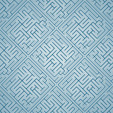 Blaues Labyrinth (Muster nahtlos) Stockfoto