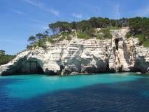 Blaues Lagune menorca Spanien Lizenzfreie Stockbilder