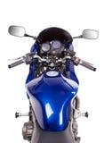 Blaues leistungsfähiges Motorrad Stockfoto