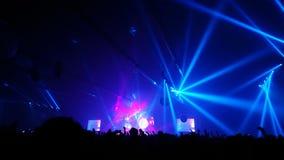 Blaues light†‹in†‹Konzert Lizenzfreie Stockbilder