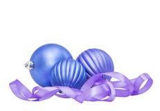 Blaues lila Weihnachts- und des neuen Jahresflitter Lizenzfreies Stockbild