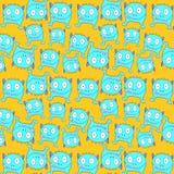 Blaues litlle Monstermuster Auf lagerabbildung Stockbilder