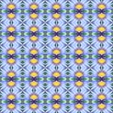 Blaues Lotus in voller Blüte nahtlos lizenzfreie abbildung
