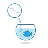 Blaues Luftblasen-Schwätzchen-Zeichen Lizenzfreie Stockfotos