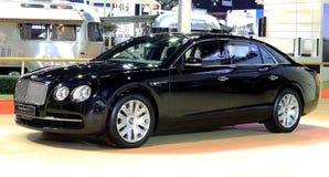 Blaues Luxusauto des Bentley-Reihe Fliegen-Sporns W12 Stockfoto