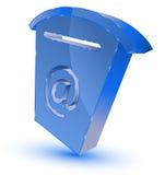 Blaues Mailbox-Symbol Stockfoto